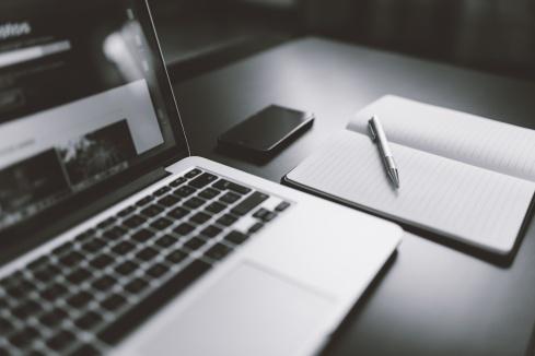 tech on desk