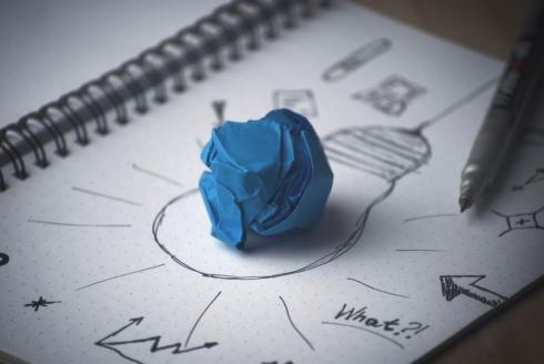 lightbulb and paper